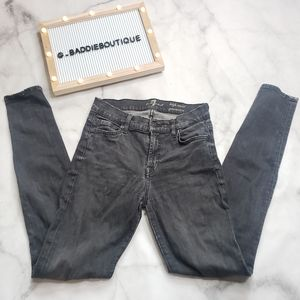 7 for all mankind grey high waist jeans